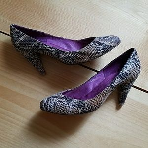 Ibiza Campbell Heels, textured snakeskin